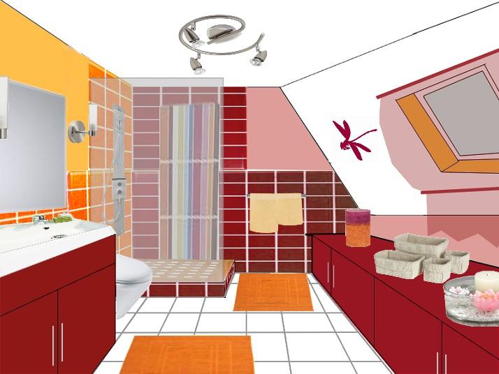 Les salles de bains coaching deco - Amenagement petite salle de bain sous pente ...