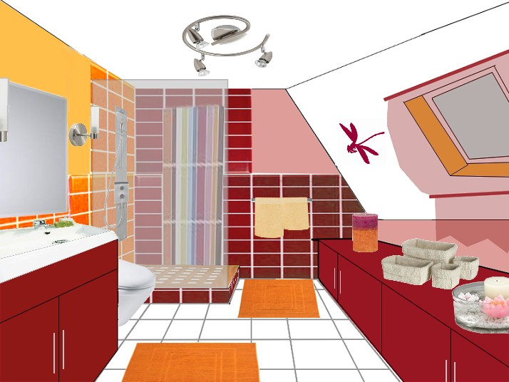 Les salles de bains coaching deco for Meuble sous pente salle de bain